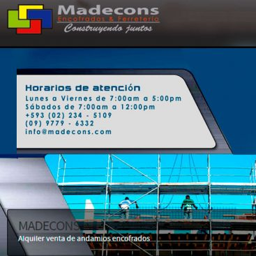 Encofrados y andamios Madecons