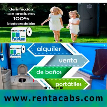 Alquiler de banios portatiles Renta cabs
